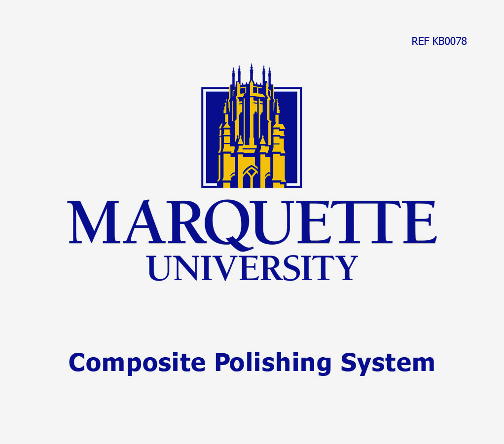 Marquette University kit label placed on the outside of the kit