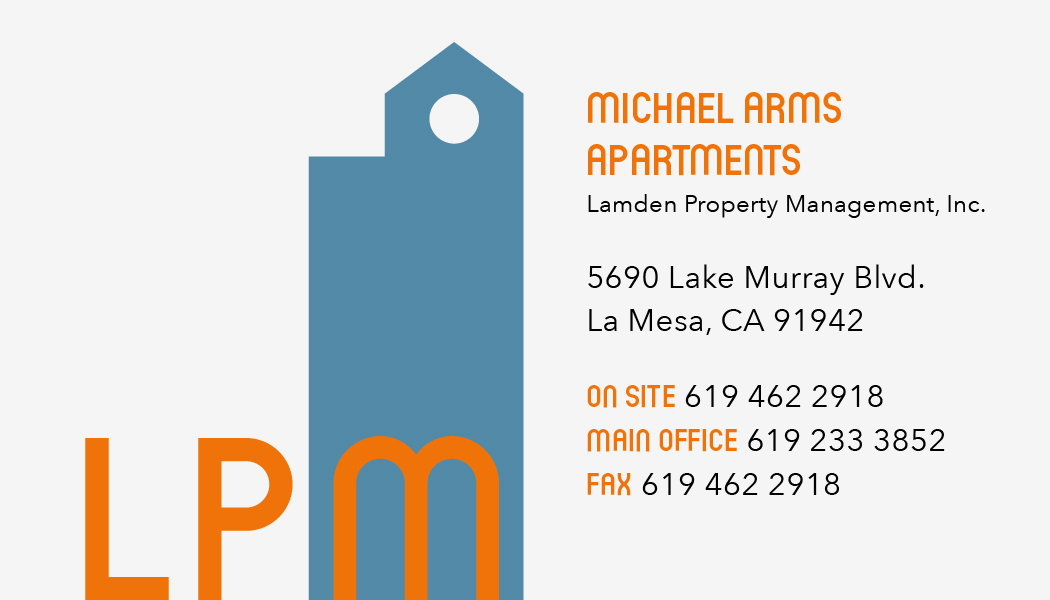An example of the informational part of the card, featuring LPM's logo (BACK)