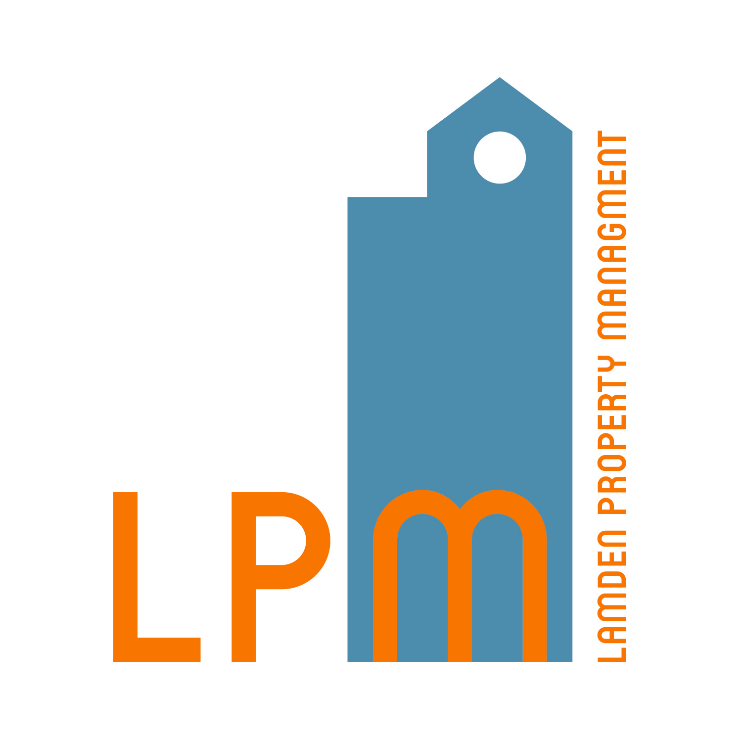 """Logo redesign for LPM, which was heavily inspired by the Centre City Building. LPM had a previous logo including the building, but they were ready for a modern logo and new color options. There are arched doors and windows throughout the building, so the """"M"""" plays homage to this."""