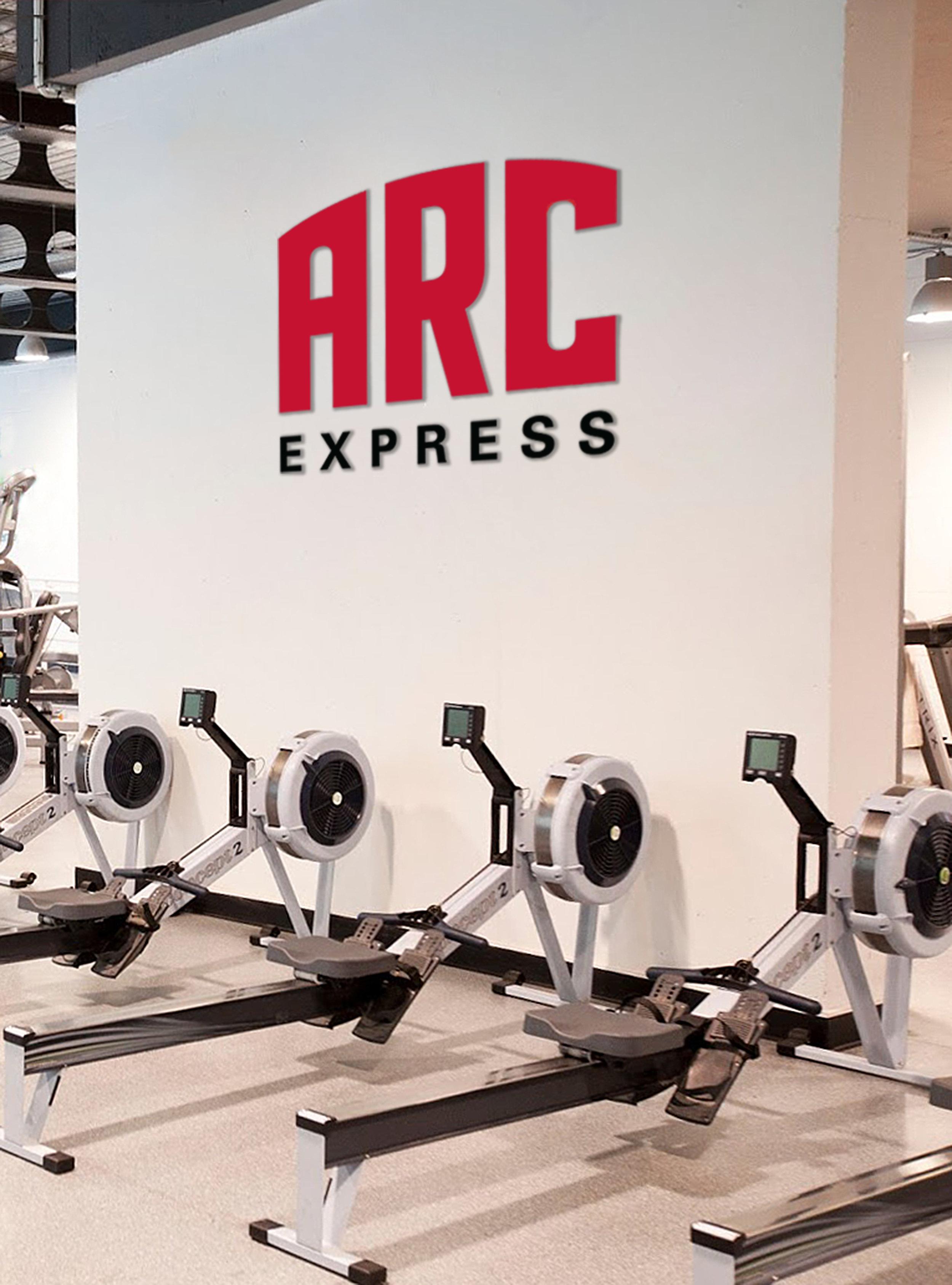 Example of ARC Express logo in context (Logo 1)
