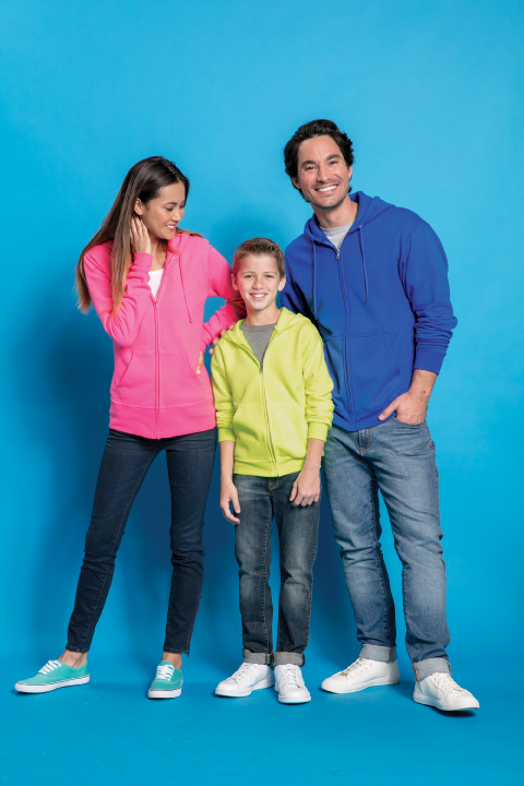 Click On Image to View Available Full Zip Hoodie Colors !