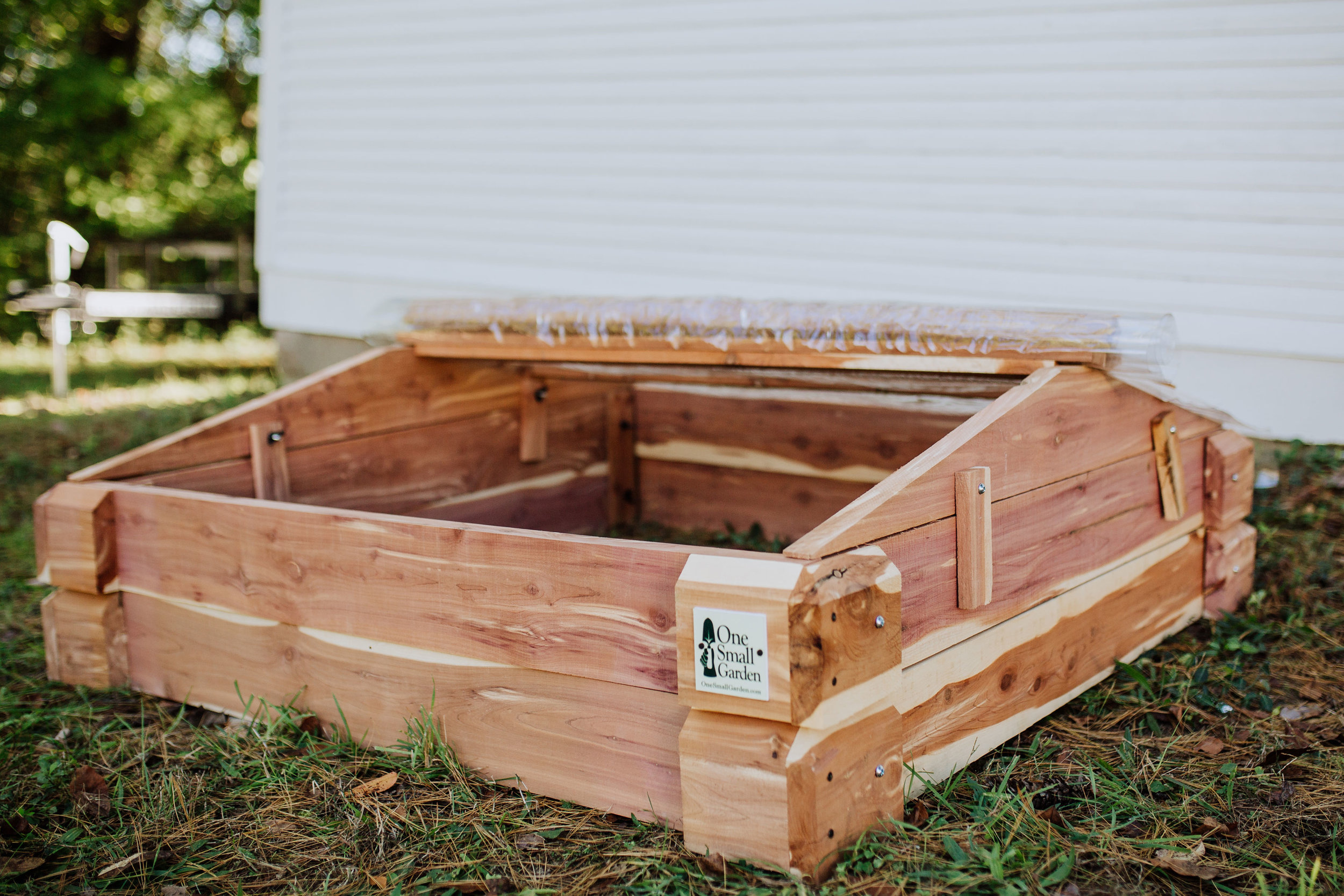 Raised Bed with Cold Frame Curtain