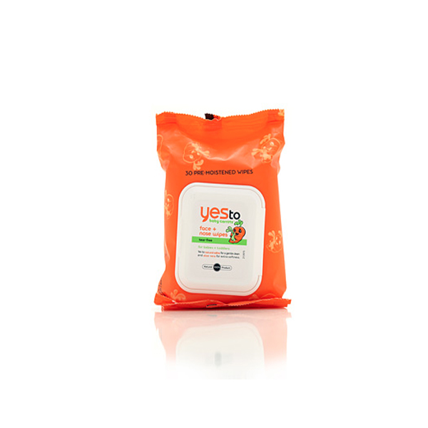 Yes to Baby Carrots Face + Nose Wipes