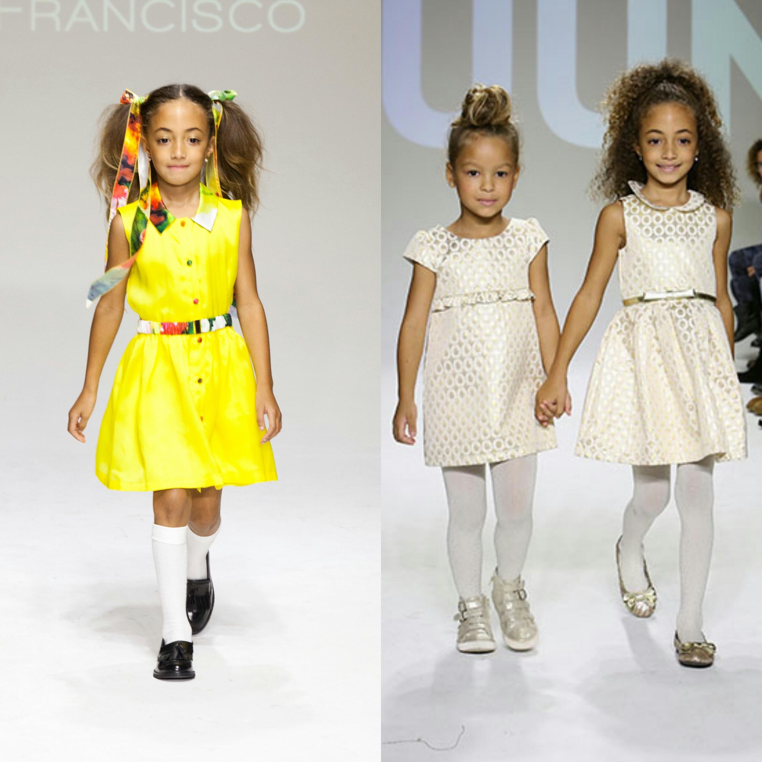 Sophia Pippen walks  Alivia Simone SS15 / Sophia Pippen &  Harper Tillman  close  RUUM Kidswear .