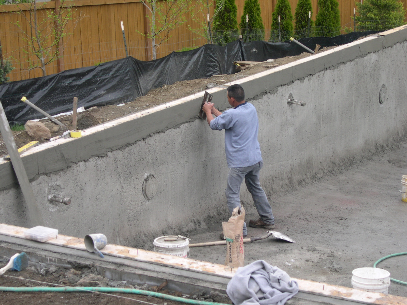 Begin Coping and Tile Installation