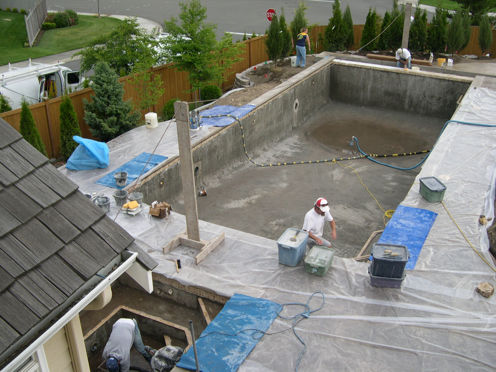 Begin Application of Plaster / Pool Surface