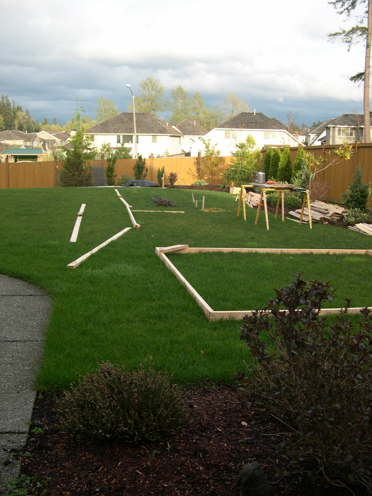 Pre-pool backyard