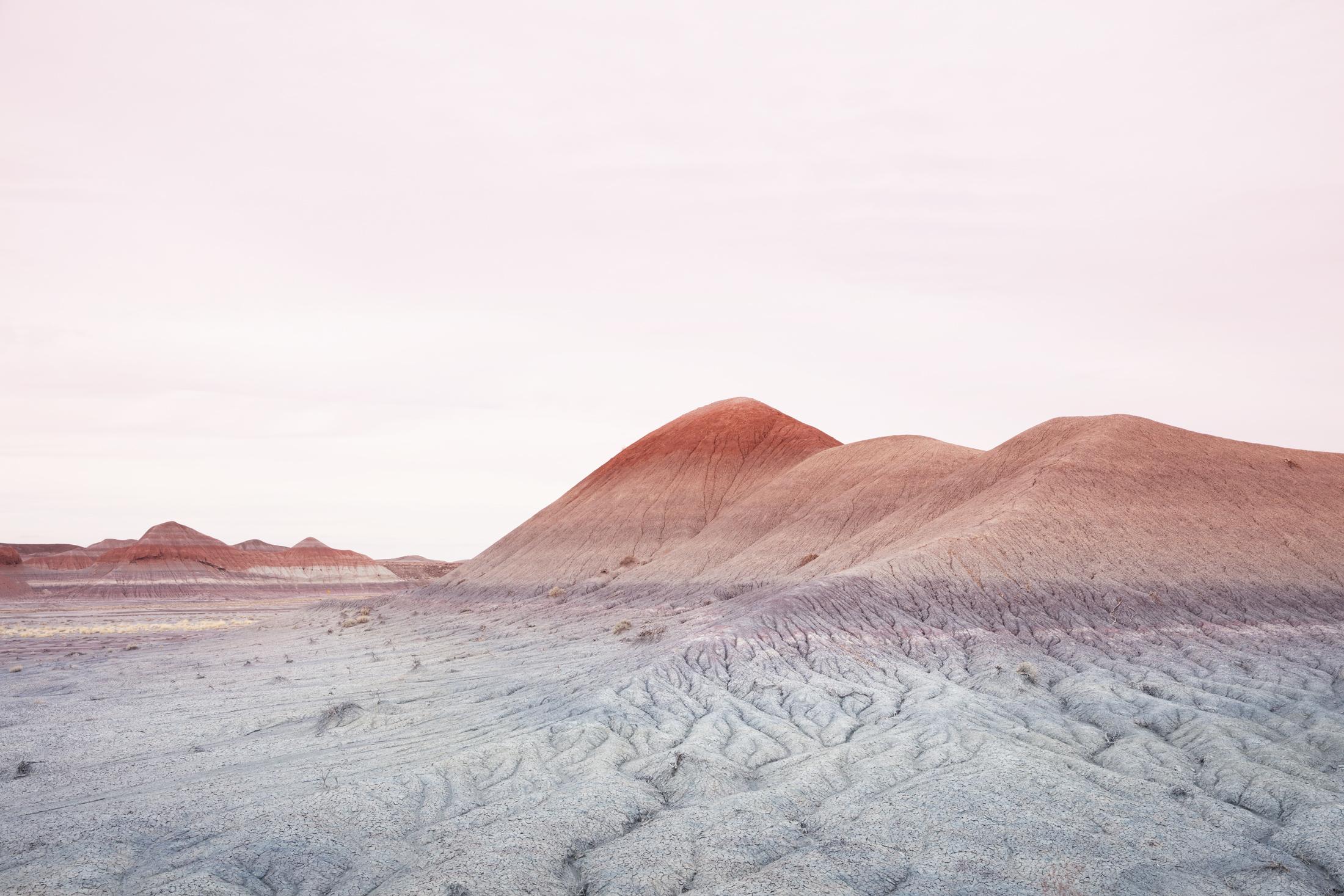 1) Badlands Series #4348, Arizona. Photograph, 32X48 inches, 2017.