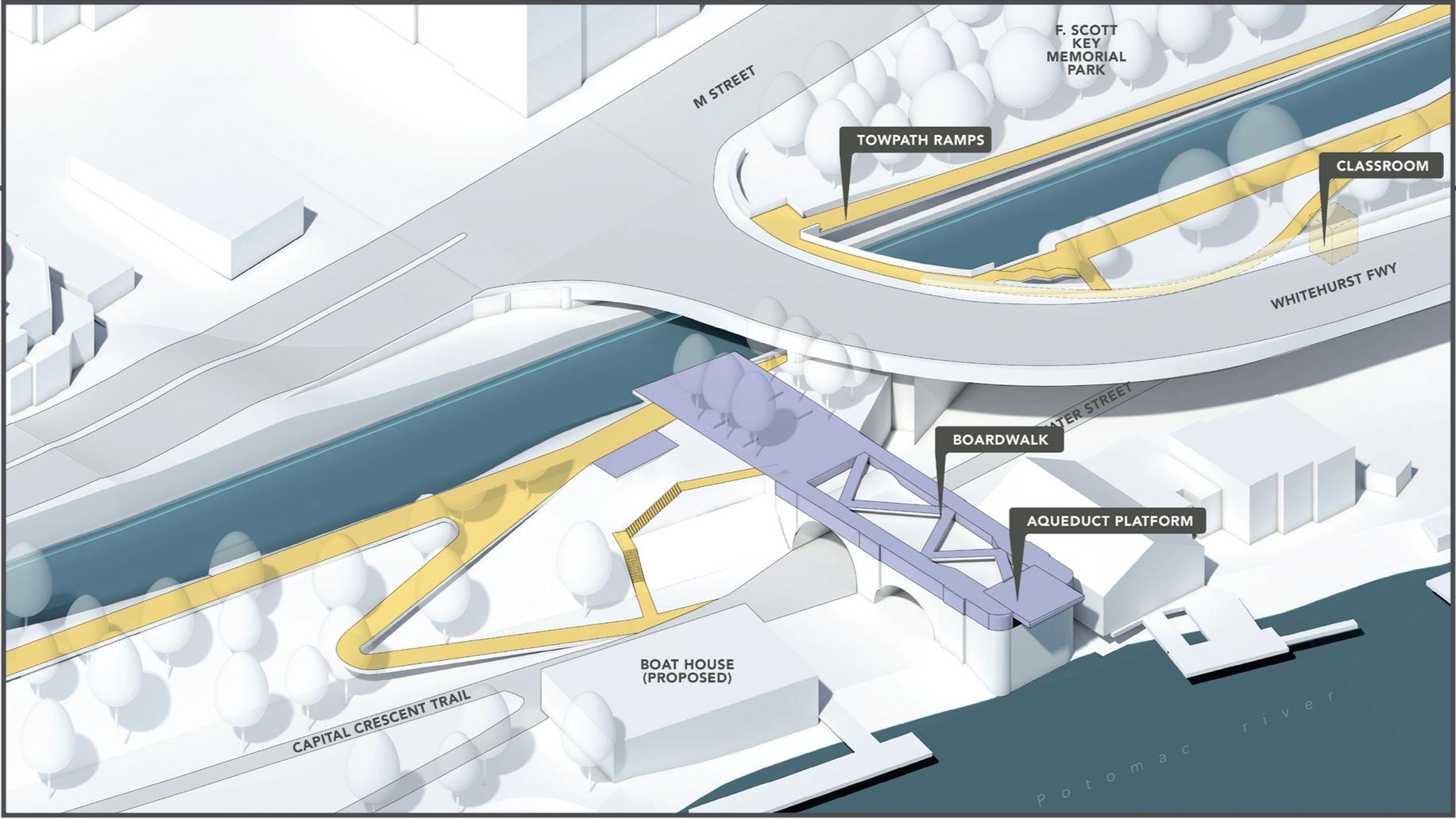 The Aqueduct - Option A, 3D View
