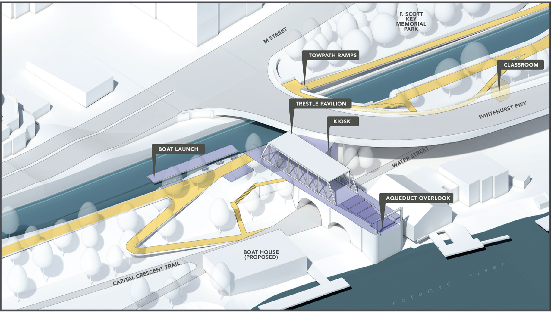 The Aqueduct - Option B, 3D View