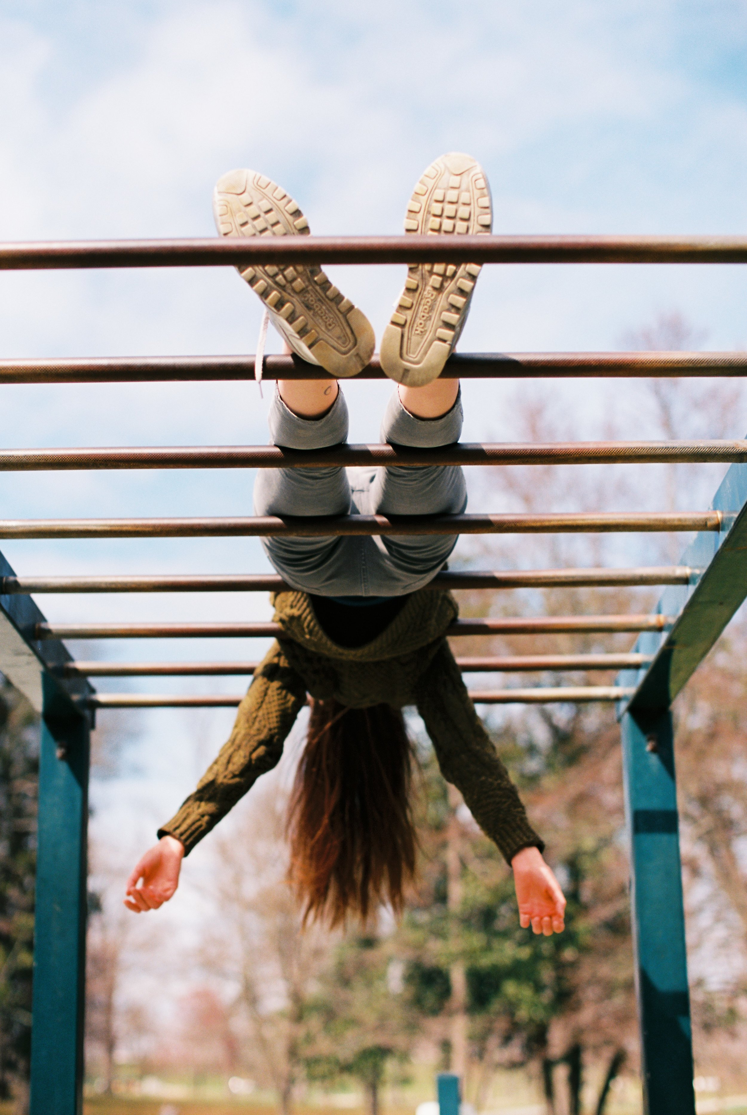 Hang Time - one roll of film and some monkey bars