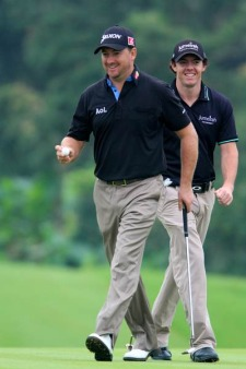 McDowell and McIlroy have shown plenty of chemistry in team play. .Picture Phil Inglis www.golffile.ie