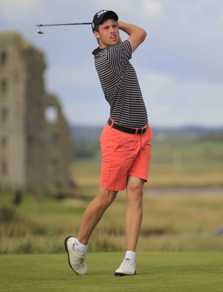 Alex Gleeson (Castle) on the 13th tee during the third Round at Lahinch. Picture: Thos Caffrey / www.golffile.ie