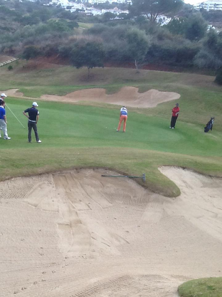 Brian Casey holes out on the final green. Picture © Tommy O'Driscoll.
