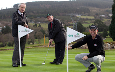 Padraig Harrington with   or Tourism and Sport, Michael Ring TDand Tony Lenehan, Fáilte Ireland, at Stackstown. Picture via  http://www.failteireland.ie
