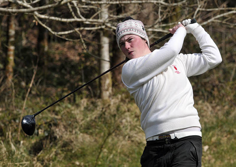 Leona Maguire (Ulster) driving from the 17th tee during the final day of the 2013 Women's Interprovincial matches at Castle Dargan. Picture by Pat Cashman/ cashmanphotography.ie