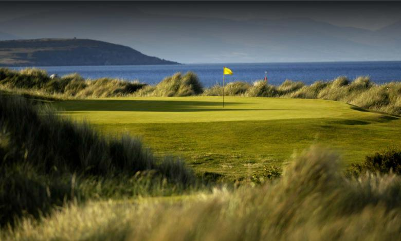 The green at the wonderful, par-three sixth at Laytown and Bettystown Golf Club in Co Meath. Picture © Dick Walsh
