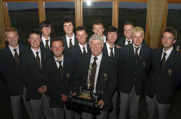 Cian Curley, back centre, with the 2008 Irish team that won the European Amateur Team Championship. Shane Lowry was a member of the same team.