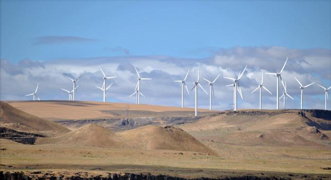 A wind farm in Oregon.