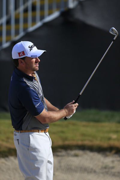 Graeme McDowell works on his bunker play in Tucson on Tuesday.Picture Fran Caffrey /  www.golffile.ie