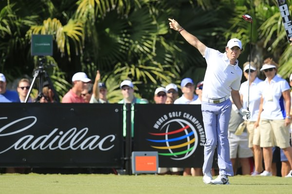 Rory McIlroy hit just five fairways but still managed a battling 74 on the Blue Monster at Trump National Doral on Friday.Picture: Fran Caffrey  www.golffile.ie