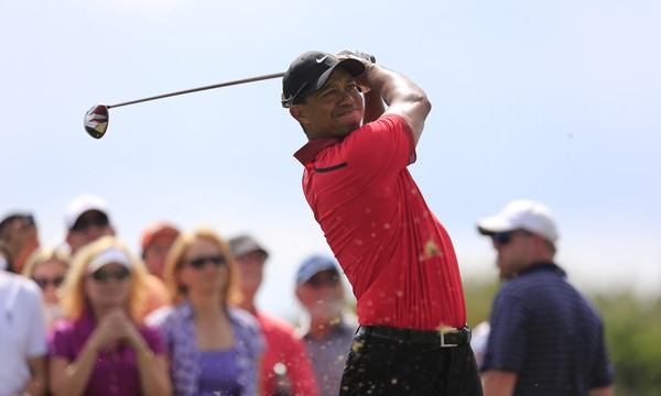 Tiger Woods' back issues marred his final round. He shot 78 to finish 25th with McIlroy on five over. Picture: Fran Caffrey  www.golffile.ie