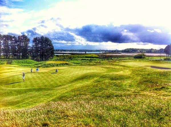 The third and 10th greens at County Louth with the Boyne Estuary in the background. Picture © Brian Keogh