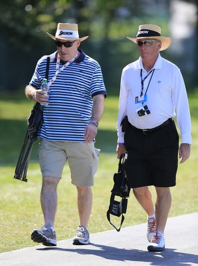 Kenny McDowell (right) was out for a stroll at Bay Hill on Friday. Picture: Fran Caffrey  www.golffile.ie