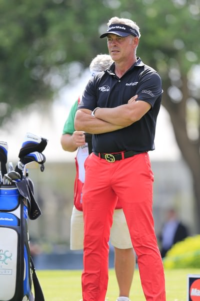 Darren Clarke looks younger than ever but his game is not quite where he would like it. Picture: Fran Caffrey  www.golffile.ie