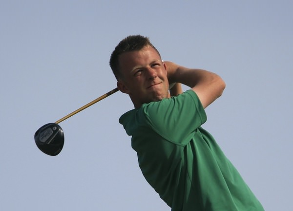 The Island's Paul McBride during last year's East of Ireland at Co Louth. Picture: Thos Caffrey /  www.golffile.ie