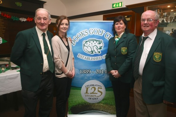 Pictured at the launch of the Dooks Golf Club 125 Programme (left to right) Tom Foley, President, Michelle McGreevy, Club Manager, Shivaun Shanahan, Lady Captain, John Mangan, Captain.