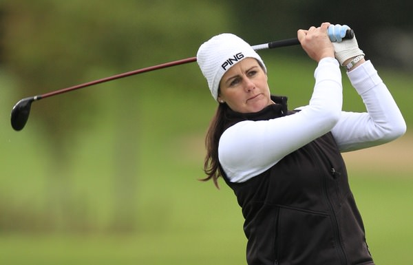 Hazel Kavanagh (Carr Golf Services) during the Cassidy Golf 103rd Irish PGA Championship last year.Picture: Thos Caffrey /  www.golffile.ie