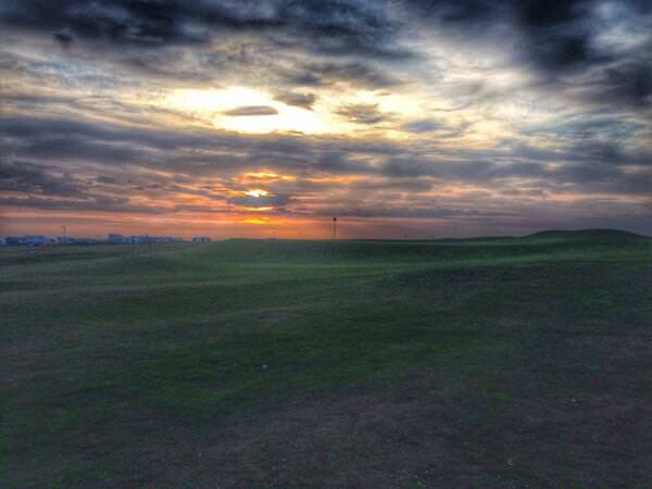 Sunset at Rosses Point where a fascinating Radisson Blu sponsored West of Ireland Championship is taking shape. Picture © Brian Keogh