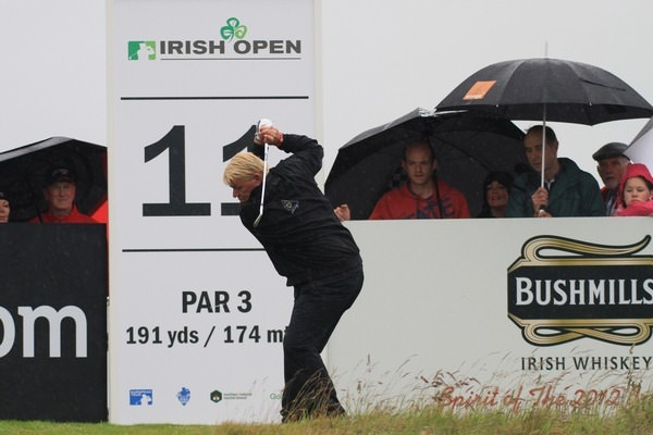 John Daly on the 11th during round one of the 2012 Irish Open at Royal Portrush. Picture Fran Caffrey  www.golffile.ie