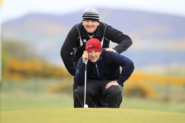 """Do you think they'll come?"" Paddy Gribben and his nephew Colm Campbell are waiting to take on all comers in the Warrenpoint Senior Scratch Cup this Sunday. Pictured during the 2013 Irish Amateur Open by Eoin Clarke  www.golffile.ie"