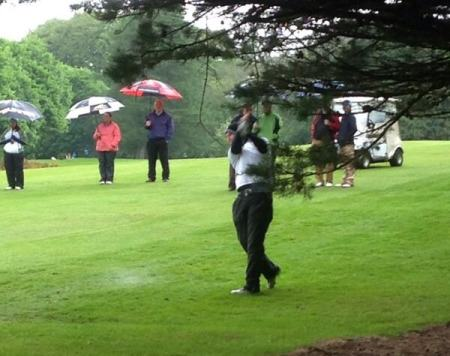 Colm Campbell en route to victory in the Warrenpoint Senior Scratch Cup. Picture via  @ConorFegan