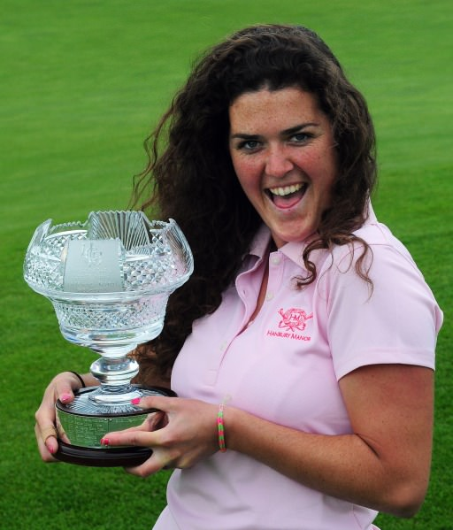Winner Lucy Goddard (England) after her victory at the 2014 Irish Women's Open Strokeplay Championship at Douglas Golf Club today (Sunday 25th May). Picture: Pat Cashman cashmanphotography.ie