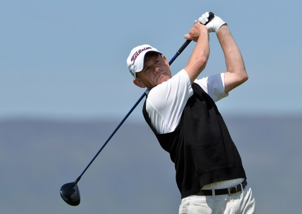 Stephen East (England) driving from the 7th tee in the second round of the 2014 Irish Seniors Amateur Open Championship at Waterville Golf Club today (29/05/2014) . Picture by Pat Cashman cashmanphotography.ie