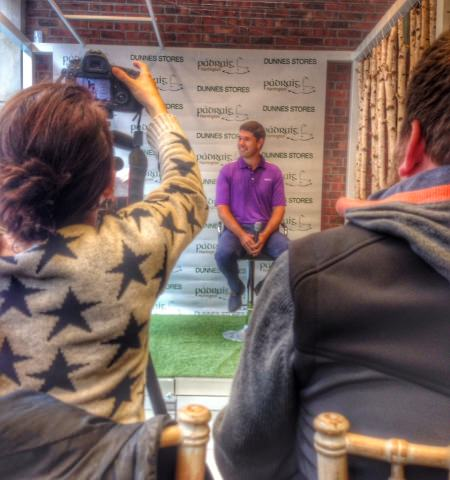 Pádraig Harrington launches his new clothing line for Dunnes Stores in Dublin on Thursday.