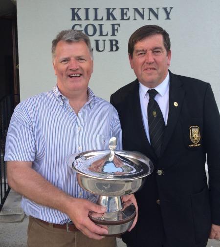 Eddie Power and Kilkenny Golf Clubcaptain Denis Brophy