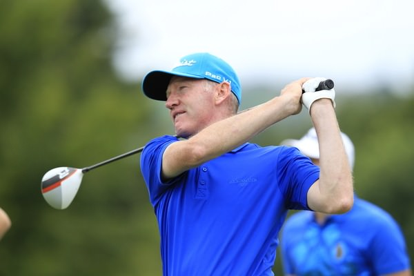 John Kelly tees off the 15th during the final round of the 2014 Irish Open. Picture: Eoin Clarke  www.golffile.ie