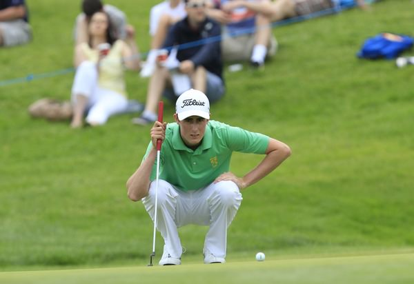 Gary Hurley was a rock for Ireland in the semi-final win over England. Picture: Thos Caffrey /  www.golffile.ie