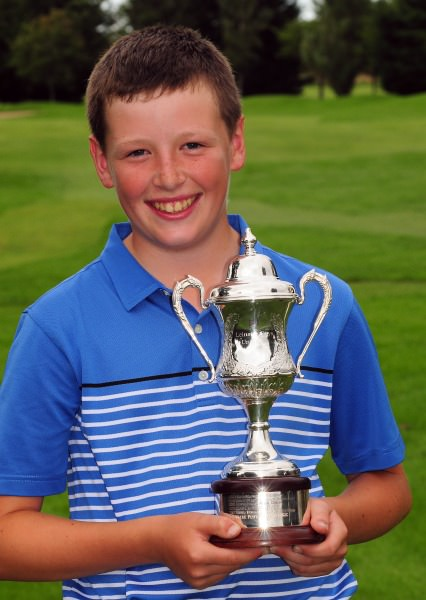 Scott Miller with the Leinster Under 13 Trophy. Picture  Pat Cashman