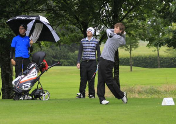 Colm Crowley (Woodbrook) on the 3rd tee during round 1 of the Mullingar Electrical Scratch Trophy.Picture: Thos Caffrey /  www.golffile.ie