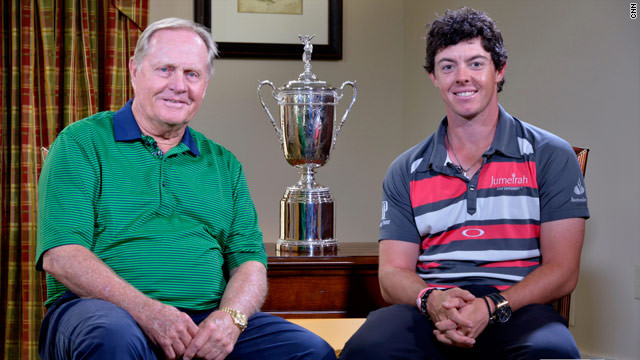 Jack Nicklaus and Rory McIlroy on  CNN  in 2012.