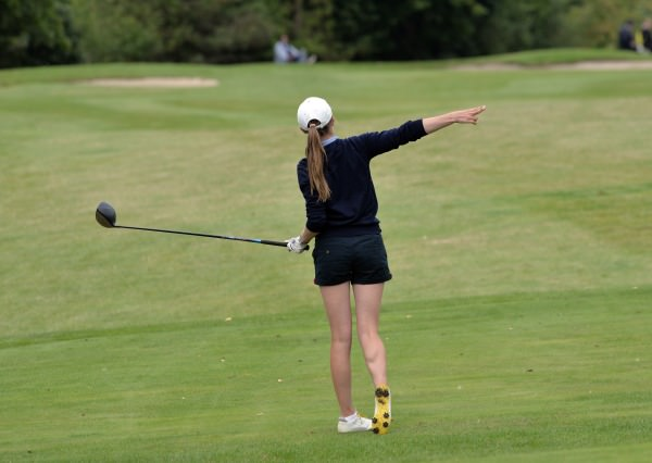 Rachel Taylor (Laytown & Bettystown) driving at the 15th in the final of the 2014 AIG All Ireland Senior Cup Finals at Mount Wolseley Country Club (16/08/2014).  Picture by  Pat Cashman