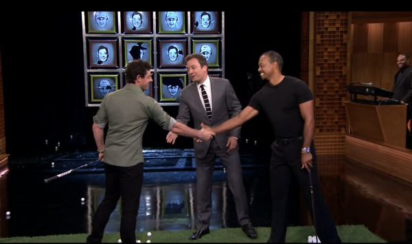 Rory McIlroy and Tiger Woods on the Tonight Show with Jimmy Fallon.