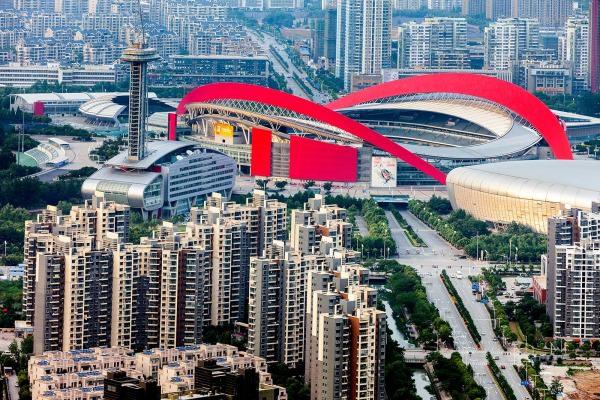 The Olympic Stadium in Nanjing, China.