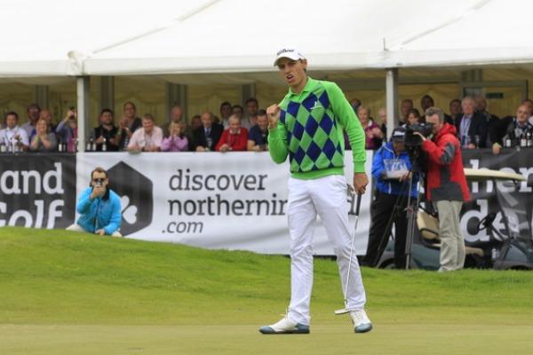 Sweden's Joakim Lagergren celebrates his maiden win at Galgorm CastlePicture: Thos Caffrey /  www.golffile.ie