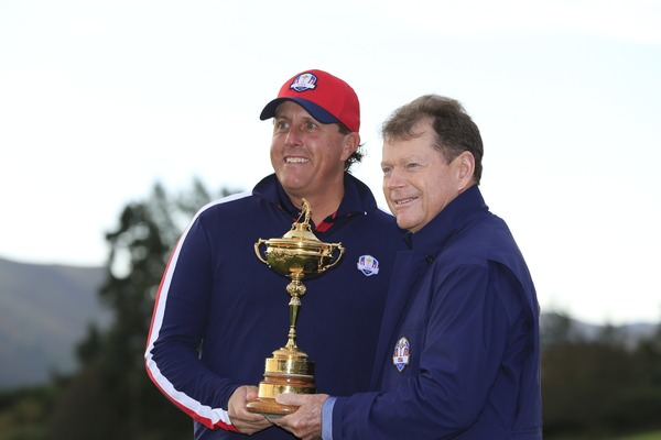 Phil Mickelson and Tom Watson at Gleneagles. Picture  www.golffile.ie